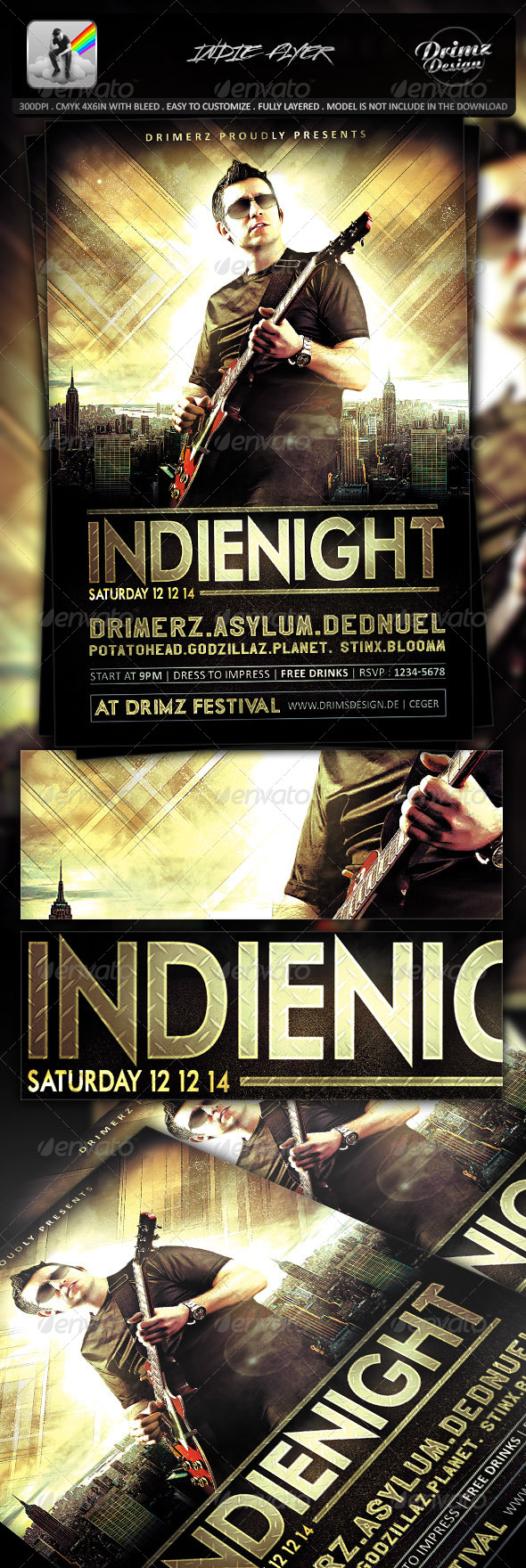 Indie Flyer - Events Flyers