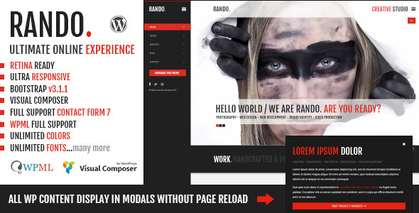 Rando | One Page Ajax Based Creative WP Theme