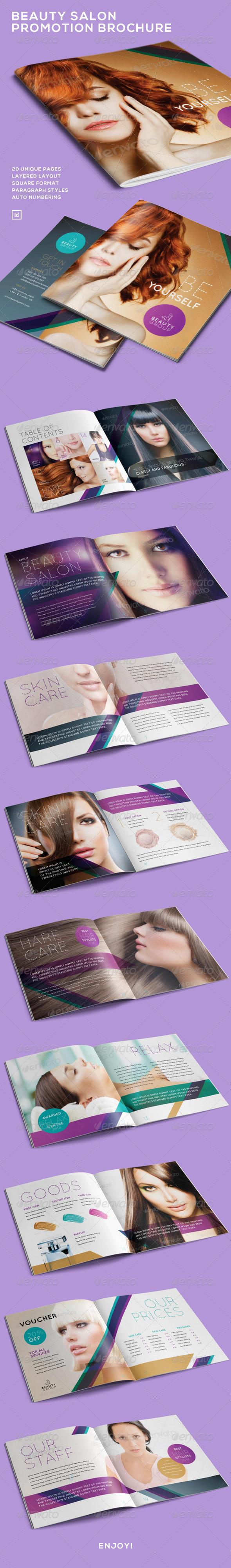 Beauty Salon Promotion Brochure - Brochures Print Templates
