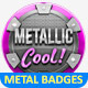 Metal Badges Template Pack - GraphicRiver Item for Sale
