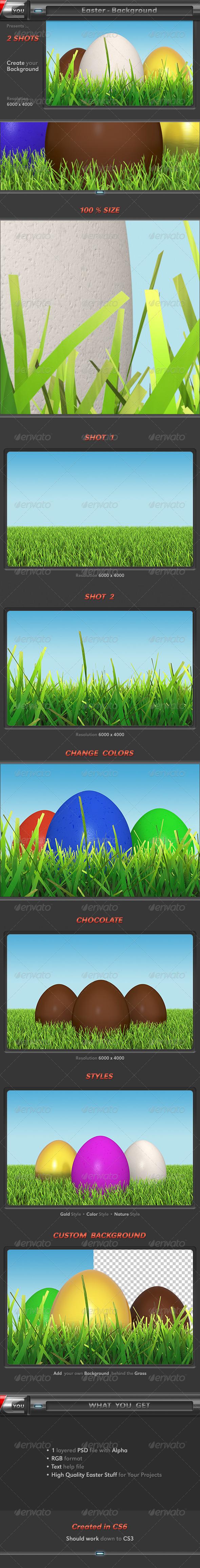 Easter Background - 3D Backgrounds