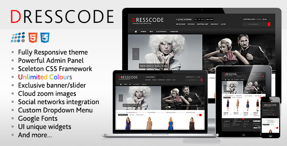Dresscode responsive nopcommerce theme by etheme for Nop commerce templates