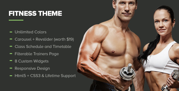 Fitness – Gym WordPress Theme