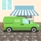 Green Delivery Van - GraphicRiver Item for Sale