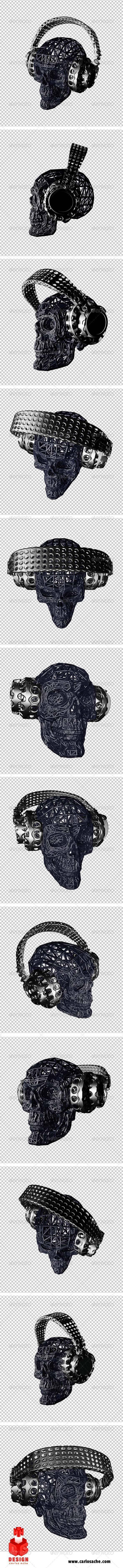 Skulls Dj´s - Twelve Views - Characters 3D Renders