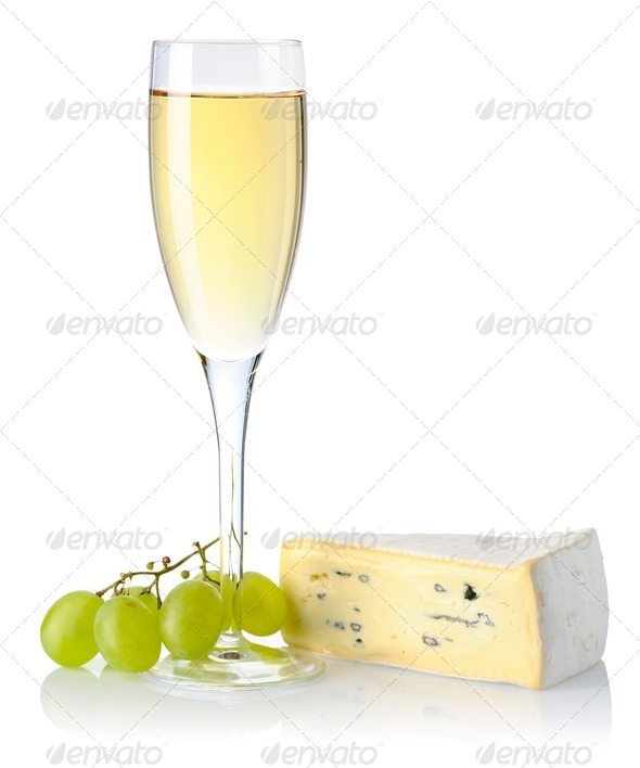 Cheese and wine - Stock Photo - Images