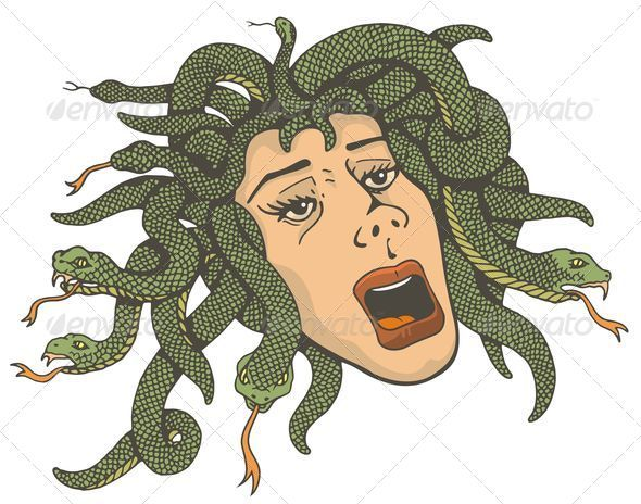Head of Medusa - Monsters Characters
