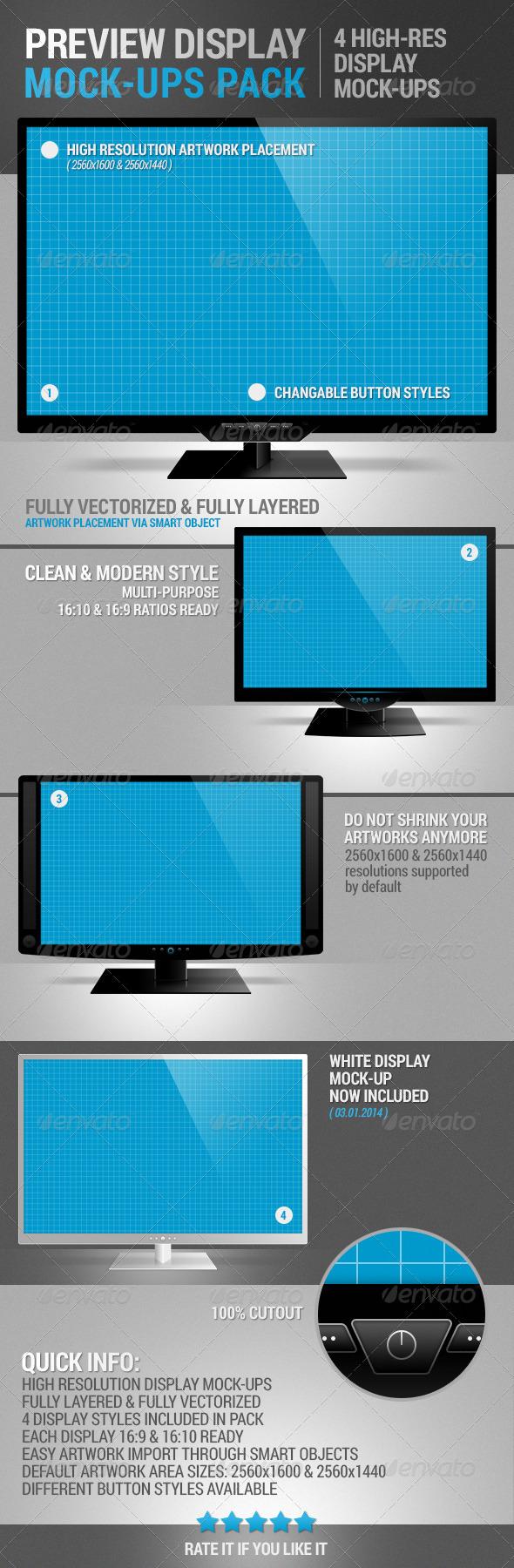 Display Mock-Up Pack - Displays Product Mock-Ups