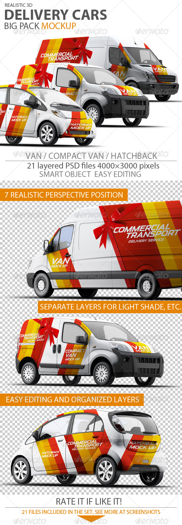 Cars Mock-up - Vehicle Wraps Print