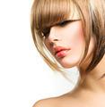Beautiful Fashion Woman Hairstyle for Short Hair. Fringe Haircut