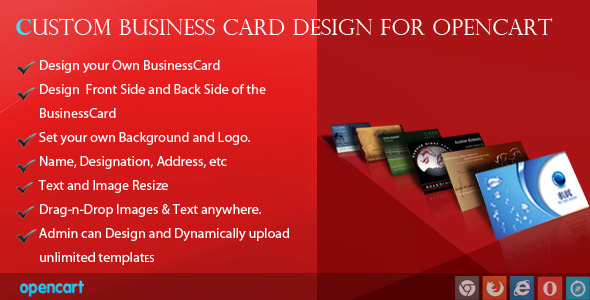 Custom business card design for opencart by wpproducts codecanyon custom business card design for opencart codecanyon item for sale colourmoves