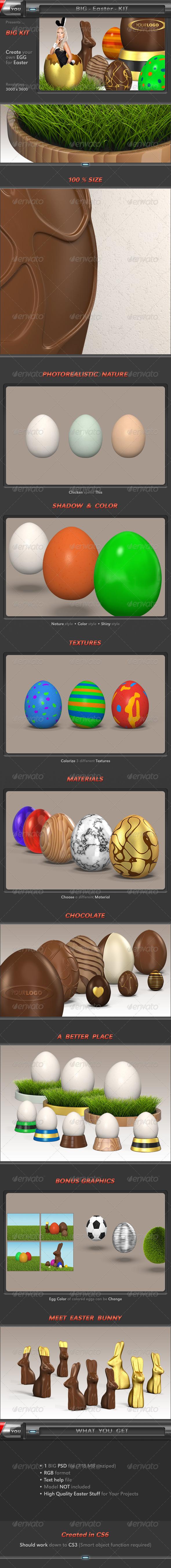Easter Egg Kit - Objects 3D Renders