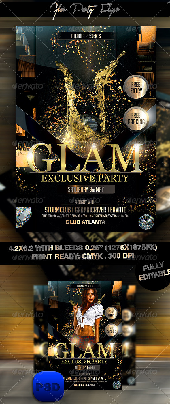 glam party flyer by stormclub