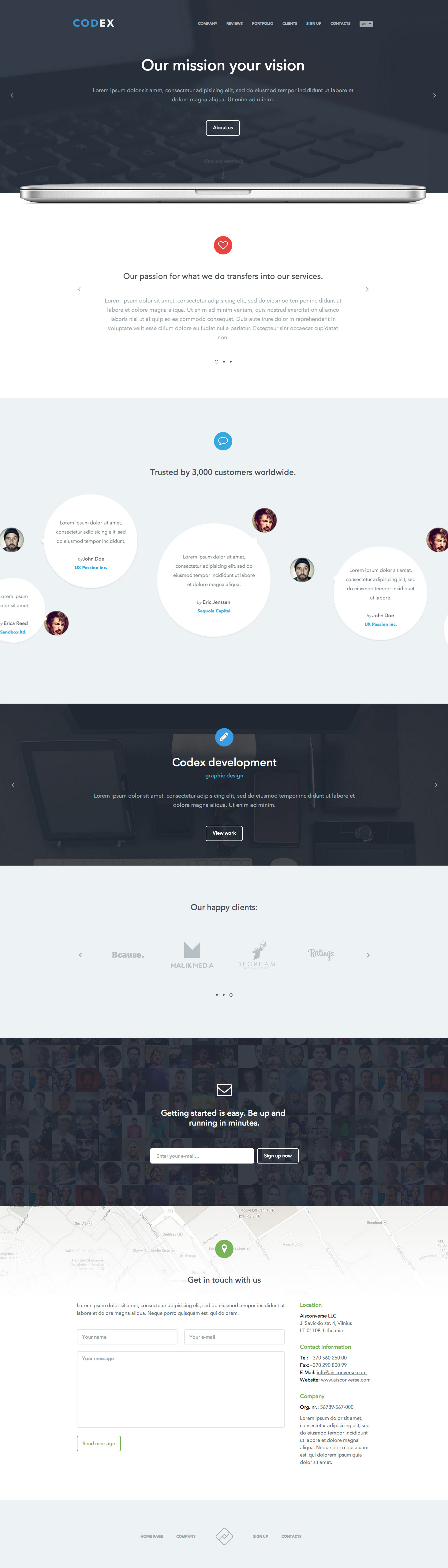 Codex - Responsive Creative One Page Template