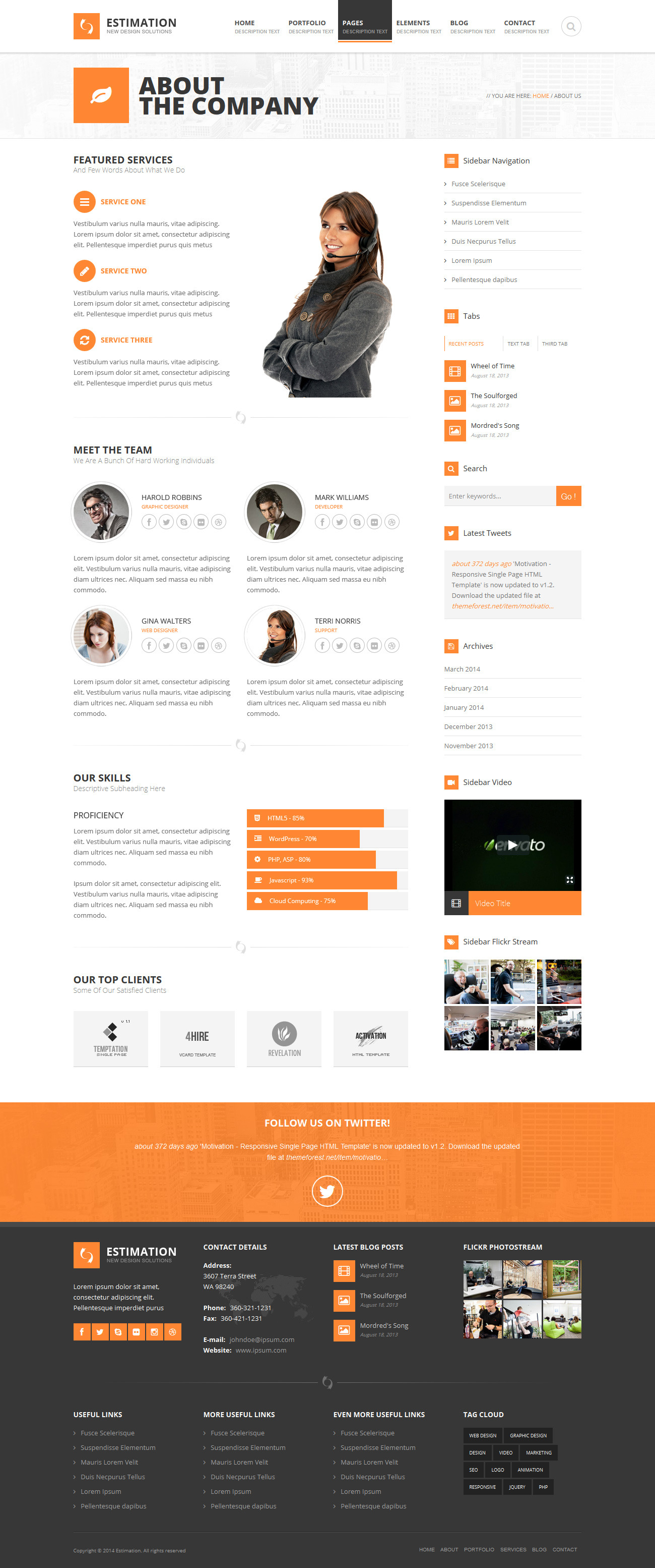 Tolle business html vorlage galerie beispiel wiederaufnahme estimation responsive business html template by hedgehogcreative cheaphphosting Choice Image