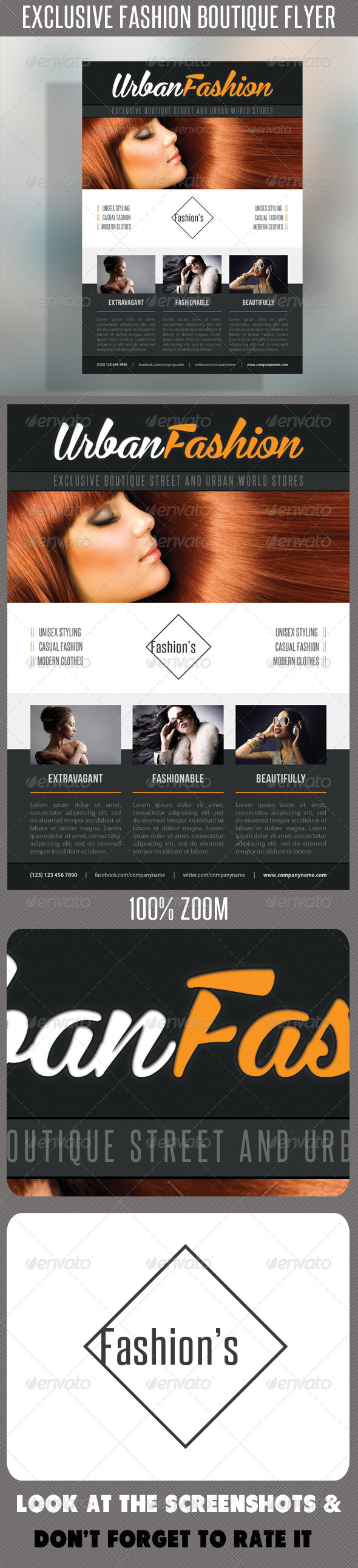 Fashion Product Flyer 50 - Flyers Print Templates