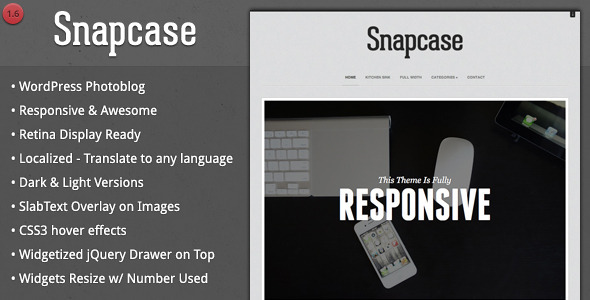 Snapcase – Responsive WordPress Photoblog Theme