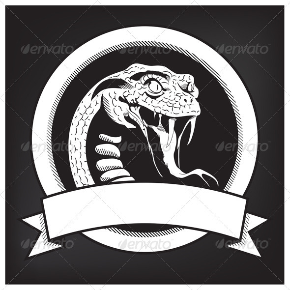Snake Illustration Emblem - Animals Characters