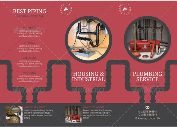 plumbing brochure template by blogankids