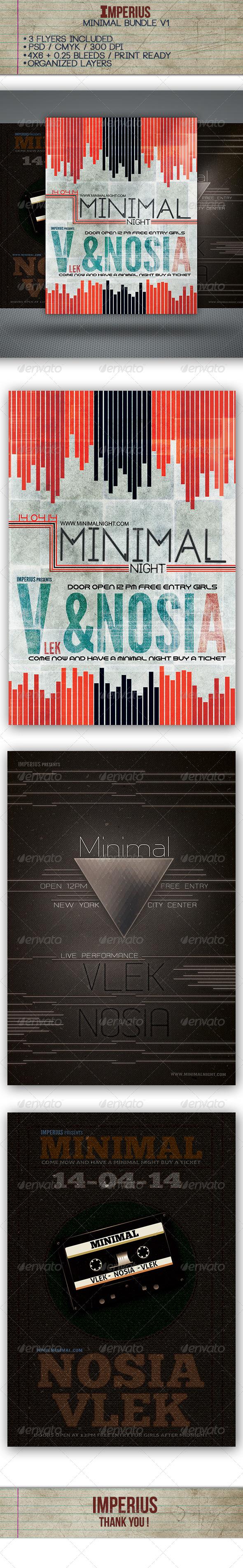 Minimal Bundle - Flyers Print Templates