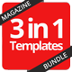 Multipurpose Magazine Bundle - Photoshop PSD - GraphicRiver Item for Sale