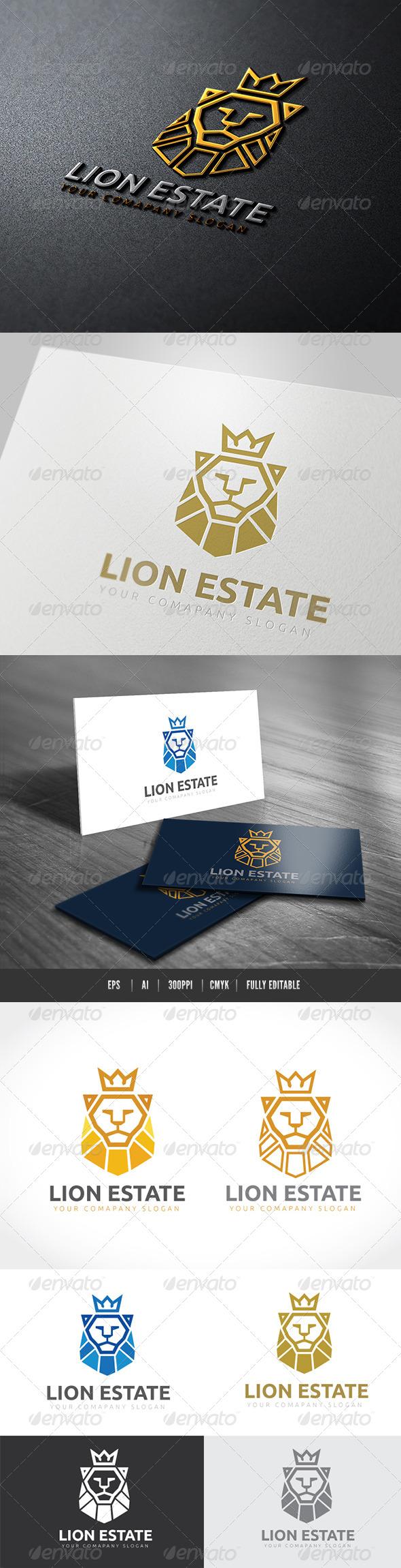 Lion Estate - Crests Logo Templates