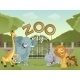 Zoo with Animals - GraphicRiver Item for Sale