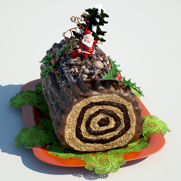 Buche De Noel - 3DOcean Item for Sale