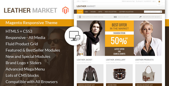 Leather Market - Magento Responsive Theme - Magento eCommerce
