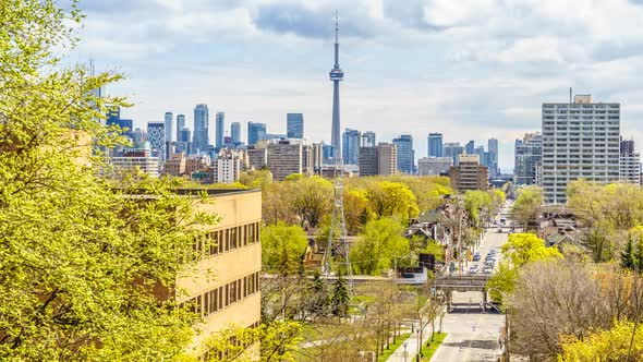 VideoHive Toronto City Skyline Lookout with Traffic 19947281
