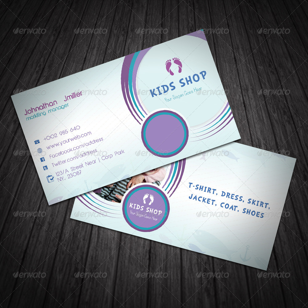 Kids Business Card by dotnpix | GraphicRiver