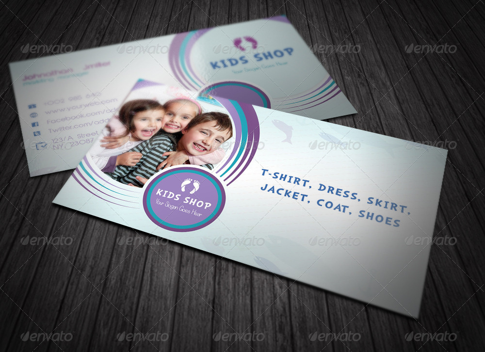Kids Business Card by dotnpix | GraphicRiver