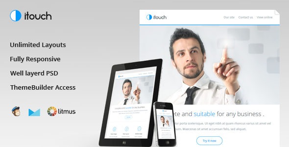 Itouch - Responsive Email with Layout Builder - Email Templates Marketing