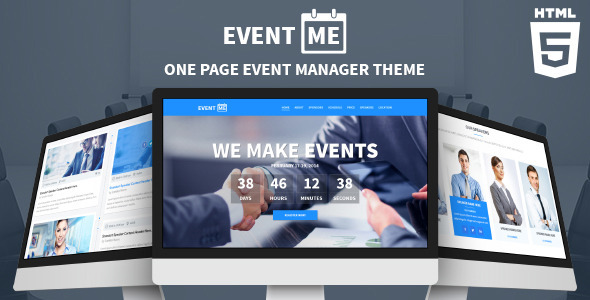 EventMe - Responsive Event Landing Page - Events Entertainment