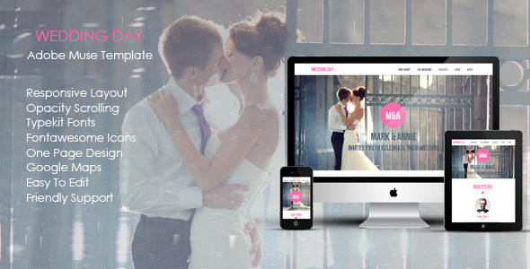 Wedding Day Muse Template - Creative Muse Templates