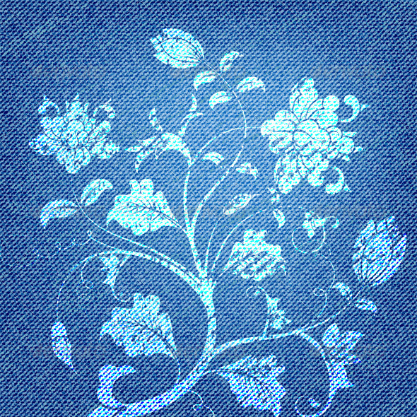 Jeans Texture - Flourishes / Swirls Decorative