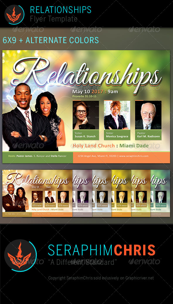 Relationships: Church Flyer Template - Church Flyers