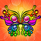 Colorful Butterfly on Orange Background - GraphicRiver Item for Sale