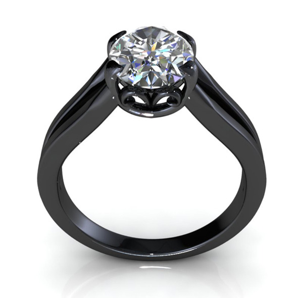 Bianco Oval Diamond Ring - 3DOcean Item for Sale