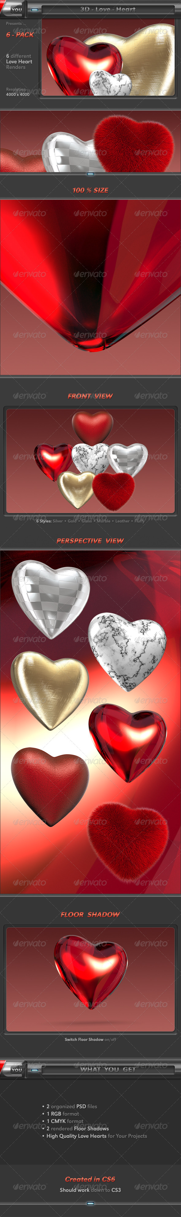 Heart - Objects 3D Renders