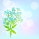 Card with Forget Me Not Flower - GraphicRiver Item for Sale