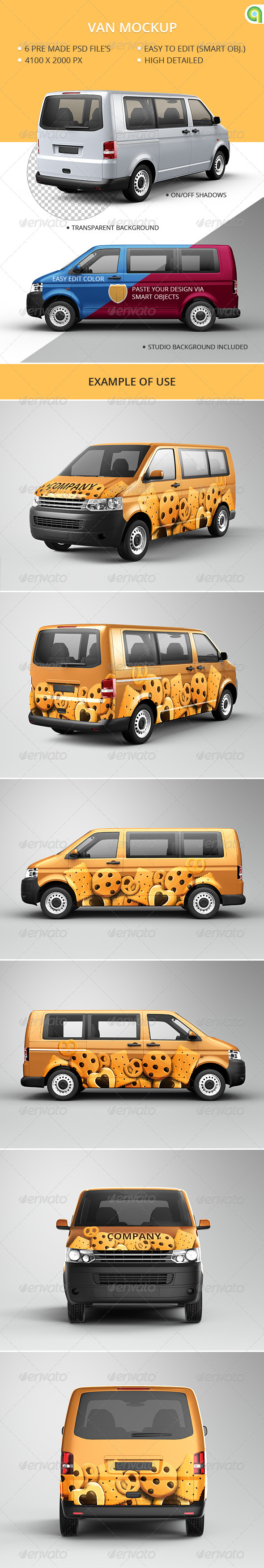 Van Mockup - Vehicle Wraps Print