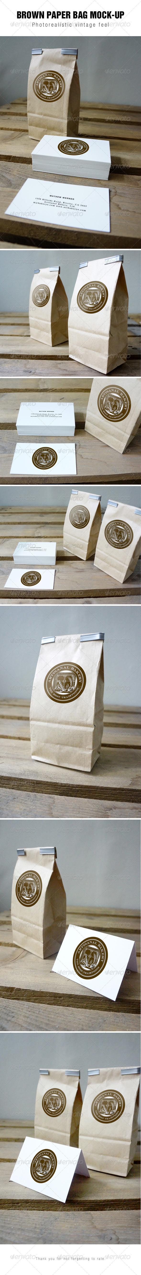 Brown Paper Bag Mockup - Packaging Product Mock-Ups