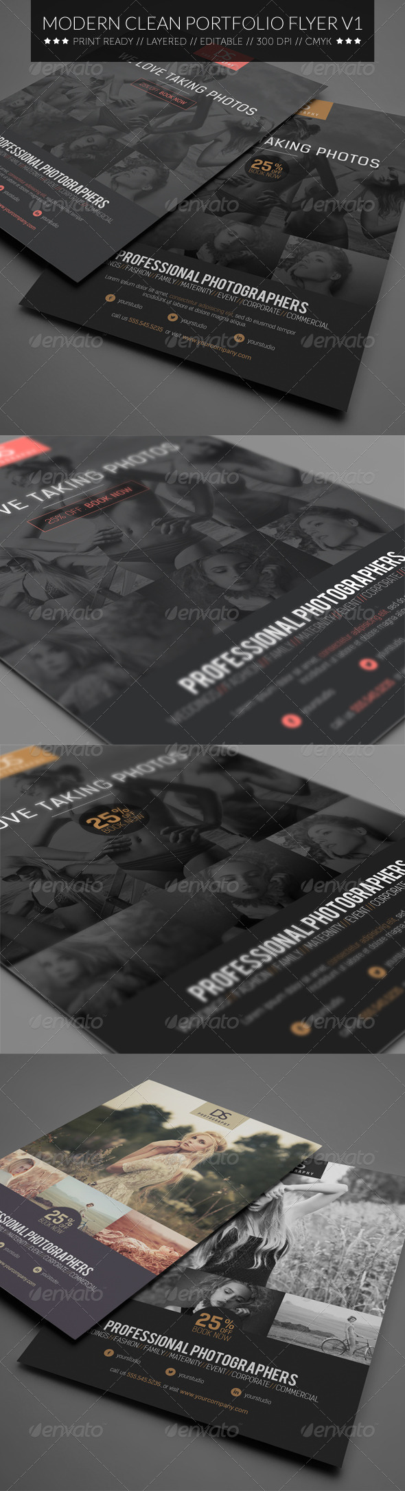 Modern Clean Photography Flyer V1 - Corporate Flyers
