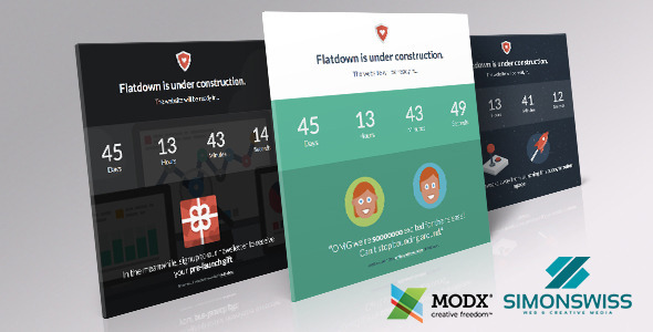 Flatdown – Coming Soon MODX Theme