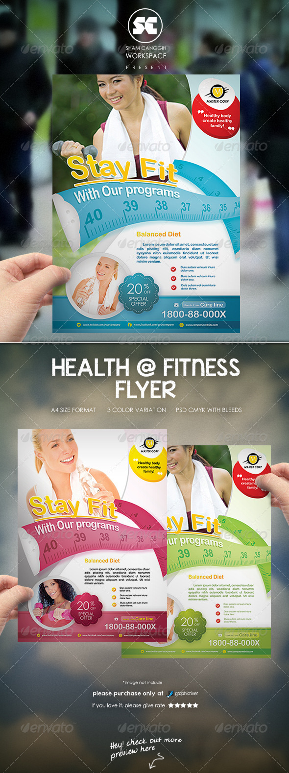 Health & Fitness Flyer/Magazine Ads - Miscellaneous Events