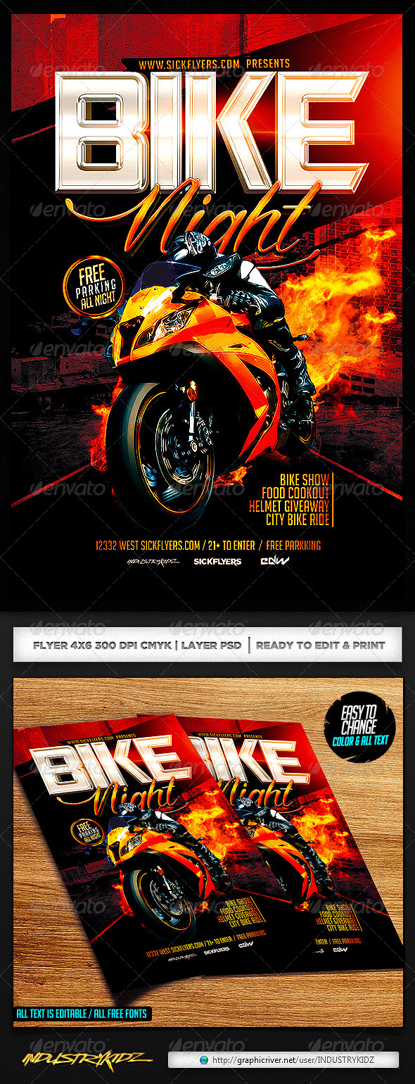 bike night flyer template events flyers