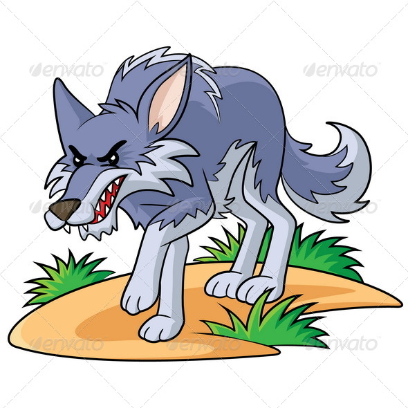 wolf cartoonrubynurbaidi   graphicriver