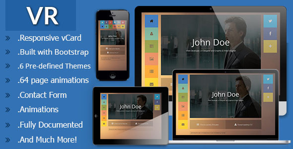 VR Responsive vCard Template