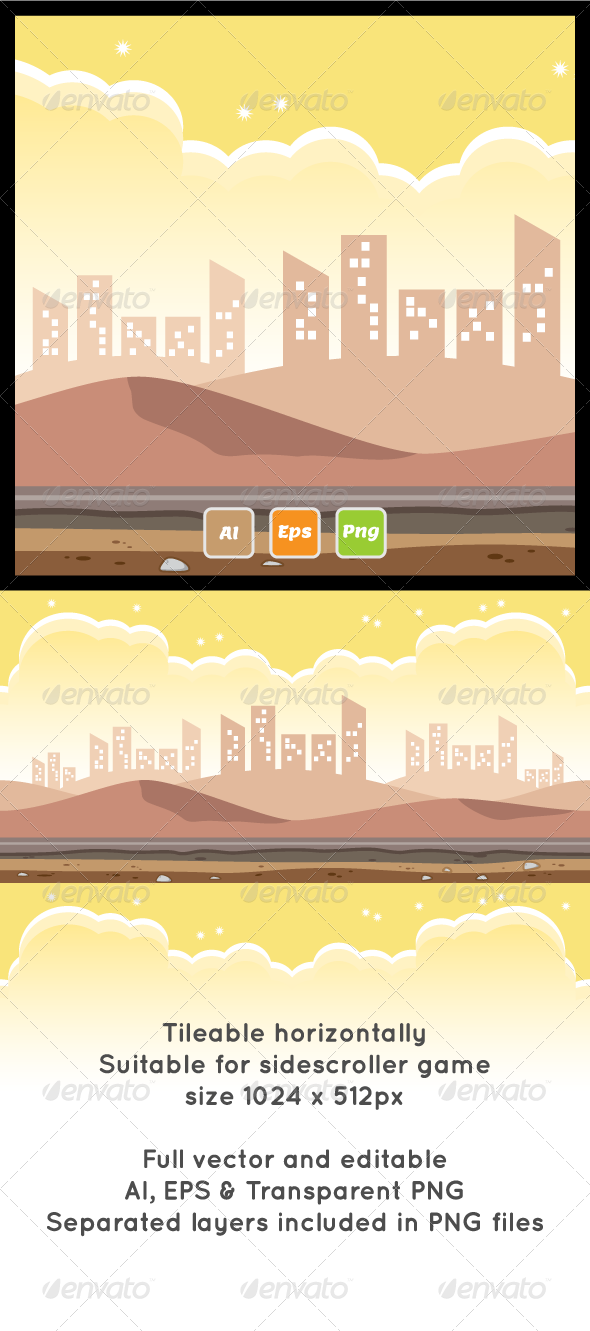 Sand Mountain Game Background - Backgrounds Game Assets
